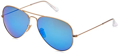 Ray Ban RB3025 Aviator Gold,Cry.Green Mirror Multi L.Blue