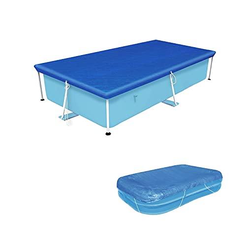 Vanexiss Swimming Pool Cover, Frame Pool Cover with Ropes - Rectangular UV Resistant Polyethylene Rainproof Dust Cover (118'', 79'')