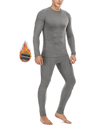Roadbox Thermounterwäsche Herren,Lange Funktionsunterwäsche Set Atmungsaktiv & Weich Thermobekleidung männer Winter für Lauf,Fahrrading,Fußball,Skifahren
