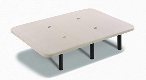 Hogar 24 Base Tapizada con Tejido 3D y Válculas de Transpiración y 6 Patas De Metal De 32 cm 90x190cm