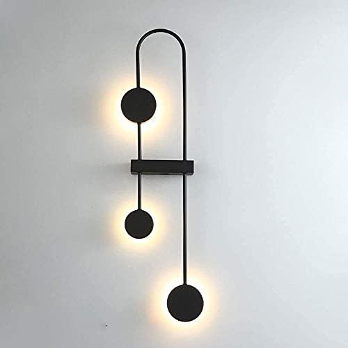 FXLYMR Lámpara de Pared Candelabro Moda de Lujo Pantalla Acrílica Moderna, Geométrica Lavado de Pared Siet Luces de Lámpara Led de 18 W Soportes Empotrados de Interior para Dormitorio Sala de Estar A