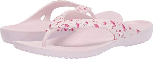 Crocs Damen Kadee II Graphic Flip Flops | Sandals for Women Flipflop, Flamingo/Barely Pink, 36 EU