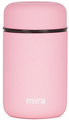 MIRA Lunch, Food Jar | Vacuum Insulated Stainless Steel Lunch Thermos | 13.5 oz | Rose Pink