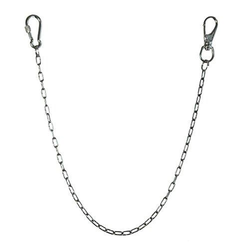 KAMERO Wallet Chain, Edelstahl, einfach, 2mm, 55 cm, Walletchain, Kette für die Geldbörse, Hosenkette, V4A, rostfrei und reißfest