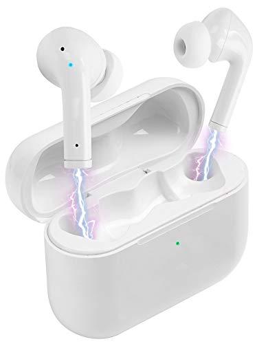 auvisio True Wireless Headset: In-Ear-Stereo-Headset mit ANC und Powerbank-Ladebox, 20 Std. Spielzeit (Headset, Bluetooth)