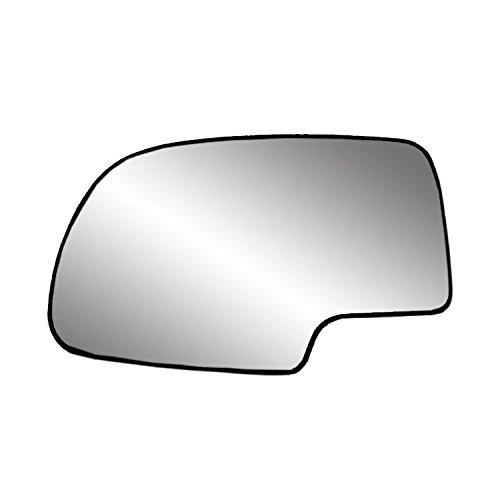 Driver Side Heated Mirror Glass w/ backing plate, Cadillac Escalade, Chevrolet Avalanche, Silverado, GMC Sierra, Silverado, Sierra Classic, Suburban, Tahoe, Yukon, 6 9/ 16' x 10 1/ 8' x 10 3/ 4'