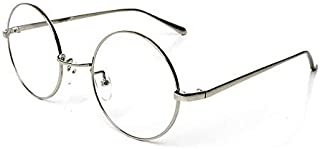 Simple Style Silver Frame Eyewear Classical Round Lens Medical Glasses