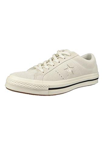 Converse Unisex-Erwachsene Cons One Star Precious Metal OX Sneakers, Weiß (Egret/Gold/Black 281), 41 EU