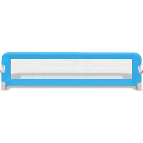 mewmewcat Barandillas de la Cama 150 cm para bebés,Barandilla Plegable de La Cama Infantil portátil y Estable, Barrera de Seguridad,Color Azul