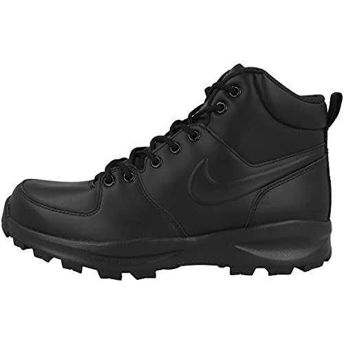 Nike Manoa Leather, Zapatos de High Rise Senderismo Hombre, Negro (Black/Black/Black 003), 43 EU