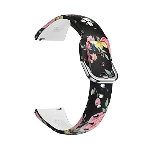 ZXC - Correa de silicona de 20 mm para Samsung Galaxy Watch 42 mm Active2 40/44 mm Gear S2 Correa para pulsera Active 2 Huami Amazfit Bip (color de la correa: colorido 7, tamaño: 20 mm)