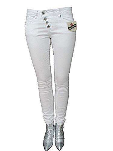 Buena Vista Damen Stretch Jeans Malibu weiß weiß XS