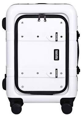 [2141-S-ホワイト]スーツケース フロントオープン トランク 小型 アルミフレーム Wキャスター TSA トランクケース キャリーケース 旅行用 キャリーバッグ 軽量 おしゃれ かわいい