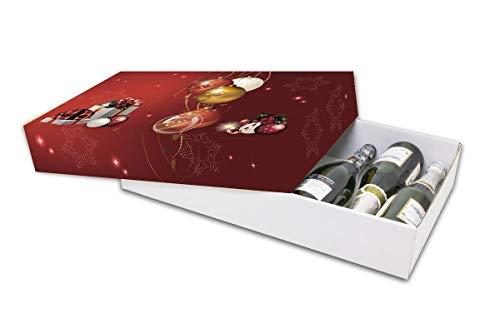 Pack de 10 Cajas de Cartón Navidad. Cesta de Navidad o Paquete. Tamaño 56,5 x 34 x 10...