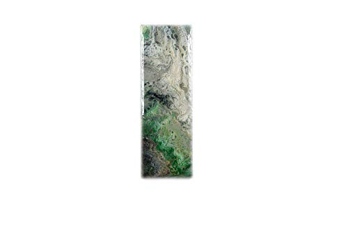 abstraktes Unikat | Acrybild Epoxidharz resin beschichtet'Victoria' Acryl Pouring | 15 cm x 45 cm | Moderne Kunst