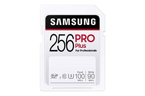 Samsung PRO Plus - Scheda di memoria SDXC UHS-I U3 da 256 GB, Full HD & 4 K, UHD (MB-SD256H/EU)