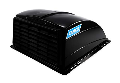 Camco Black Standard Roof Vent Cover, Opens for Easy Cleaning, Aerodynamic...