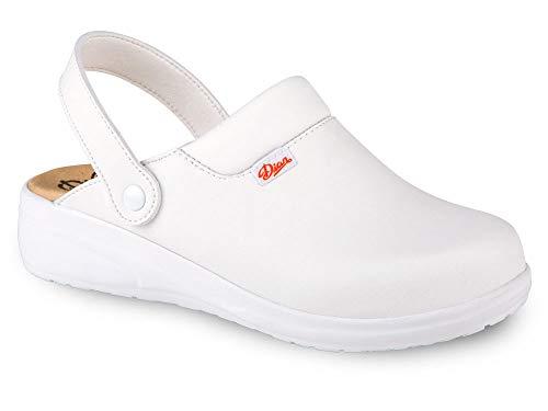 Zueco ANTIbactariano Modelo MAR Blanco Talla 40 Certificado CE EN ISO 20347 Marca DIAN