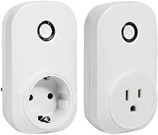 16A Wireless WiFi Smart Plug Voice Control Adapter Socket for Amazon Alexa Smart Home Accessories WiFi Control Socket EU U...