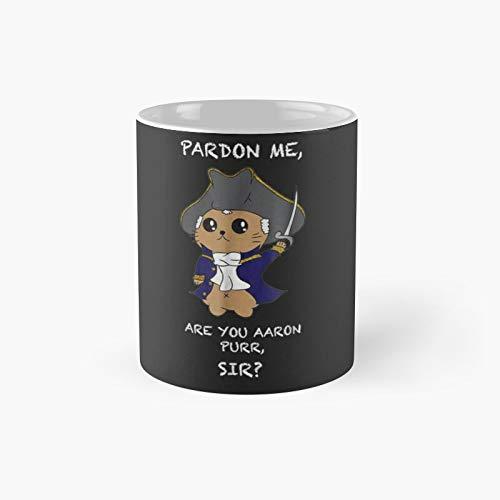 Taza clásica con diseño de gato de Hamilton, el mejor regalo, tazas de café divertidas, 11 onzas
