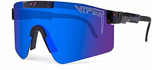 Gafas de Sol de Pit Gafas de Sol para Hombres y Mujeres Gafas de Sol Viper UV400 Deportes Polarizados Polarizados Gafas de Ciclismo Miami Blue 5 3