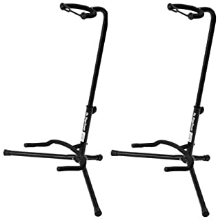 On Stage XCG4 Velveteen Padded Tubular Guitar Stand – (2 Pack)