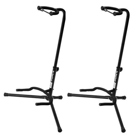 On-Stage XCG4 Black Tripod Guitar Stand, 2 Pack