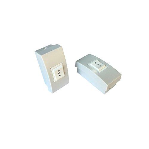 Pulsante sali scendi per tapparelle e serrande elettriche 230V con box esterno d