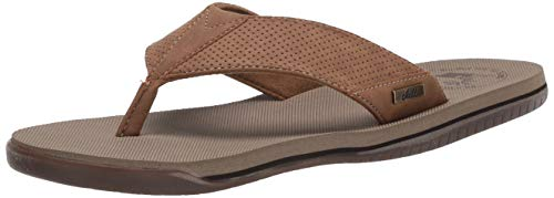 Margaritaville Men's Cabana Flip Flop, Tan, 11 Regular US