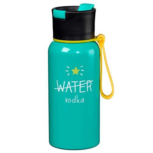 Happy Jackson Wasser/Wodka Wasserflasche, Mehrfarbig, 600ml