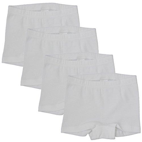 HERMKO 2710 Kit de 4 Pantis para Chica, 100% algodón orgánico
