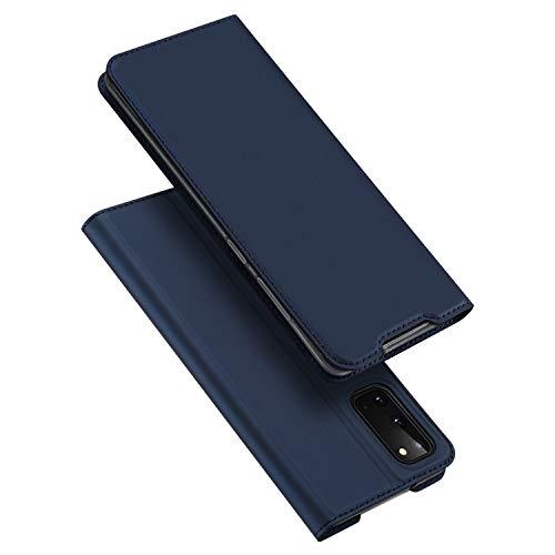 DUX DUCIS Hülle für Samsung Galaxy S20, Leder Klappbar Handyhülle Schutzhülle Tasche Hülle mit [Kartenfach] [Standfunktion] [Magnetisch] für Samsung Galaxy S20 (Blau)