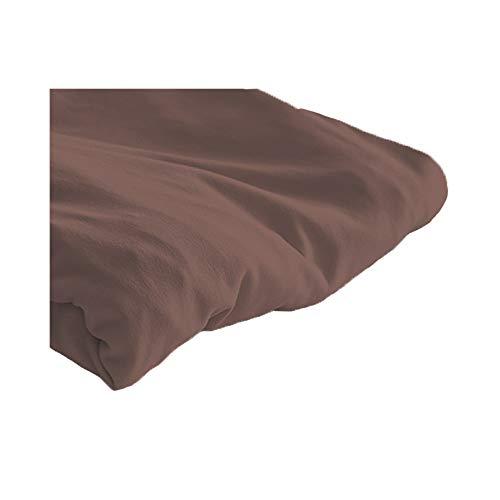 セシール ボックスシーツ ブラウン B(セミダブル~ダブル用) 着脱簡単 のびのび 乾燥機対応 吸水速乾 汗 CZ-932