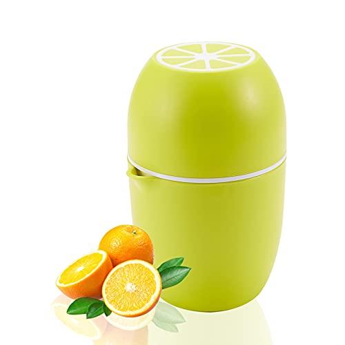 Exprimidor manual, exprimidor de naranjas, exprimidor de cítricos, exprimidor manual para zumo de granada, fruta, limón, 2 conos de prensado, Pour Ausla (amarillo)