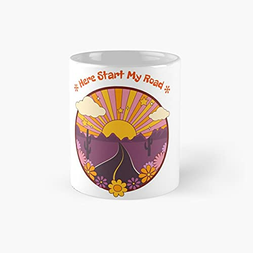 Here Start My Road Classic Mug - A Novelty Ceramic Cups Inspirational Holiday Gifts For Morther's Day, Men & Women, Him Or Her, Mom, Dad, Sister, Brother, Coworkers, Bestie.