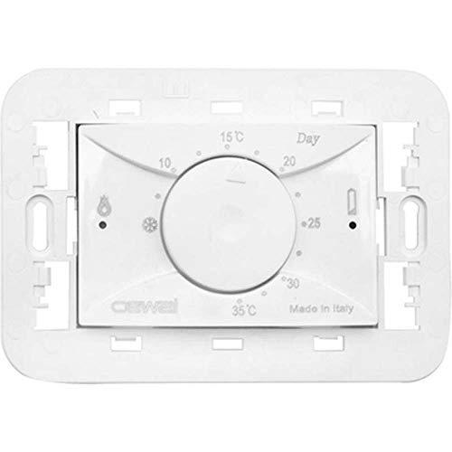 3 nuevos módulos construcción en termostato electrónico blanco CEWAL