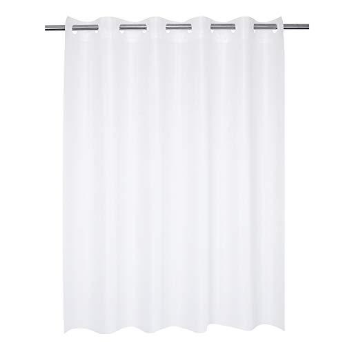 "Hotel Grade No Hooks Needed Waterproof Shower Curtain or Liner ,Frost (PEVA, 71"" x 74"")"