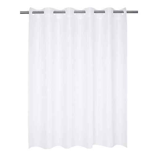 Frosted Shower Curtain No Hooks Needed - 8 Gauge PEVA, Waterproof, Nontoxic, Odorless - 71 x 74 Inch, Frost