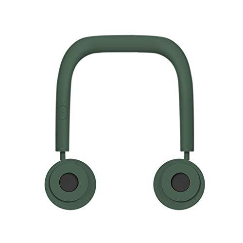 Mini Ventilator Mit Batterie Zum Umhängen Blattloser Fan USB Wiederaufladbar Halsband Faul Hals Hängend Stil Dual Lüfter