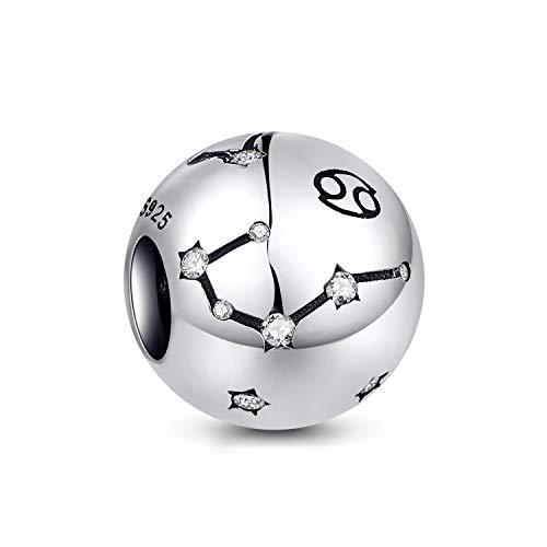 NINGAN der Krebs 12 Sternzeichen Geburtstag Anhänger – 925 Sterlingsilber Anhänger für Armband & Halskette – Ideale Geburtsgeschenke für Frauen & Freundinnen