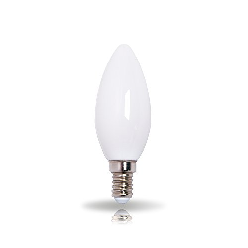 LEDmaxx LED-lamp gloeilamp kaars, glas, E14, 3 W, warm wit, 6,8 x 4,5 x 4,5 cm