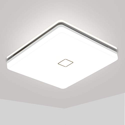 LED Deckenleuchte 18W, Öuesen Deckenlampe LED 4000K Naturweiß Badezimmer Lampe, 1800LM IP44 Wasserfest Badlampe für Bad Schlafzimmer Wohnzimmer Küche Balkon Korridor Büro