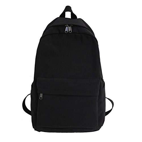 Vrouwen rugzak effen kleur vrouwen schoudertas mode schooltas voor tienermeisje kinderen rugzakken reistas, zwart, 44cmx28cmx13cm