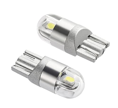 LATRAT 2Pcs Blanc T10 3030 2SMD LED Ampoules de Voiture Lampe Haut illuminum led feu de position Veilleuses led clignotant pour ampoule plaque led veilleuse moto