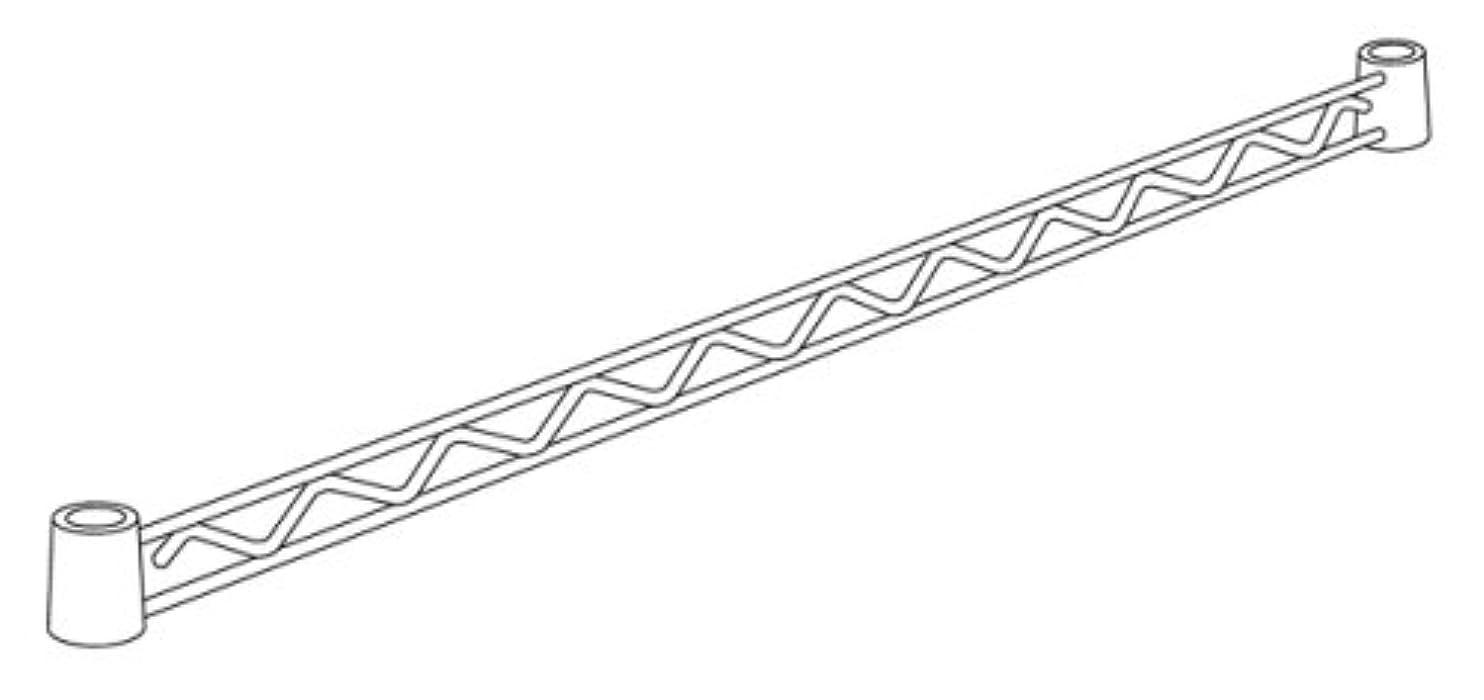 ライブ保険適応的ホームエレクター ハンガーレール ホワイト D350mm用 (2本入) HA114W