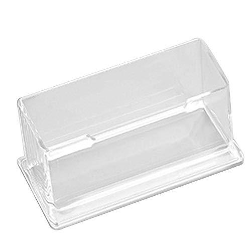 1 Uds, Estante de escritorio transparente, caja de almacenamiento, soporte de exhibición, mostrador al por menor, plástico acrílico, tarjetero transparente