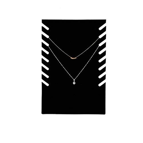 SMEJS Joyero de terciopelo negro para collar, organizador de exhibición, almohadilla, vitrina, vitrina, vitrina