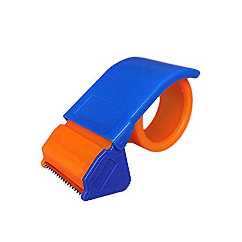 Fettion Packing Tape Gun Dispenser, Lightweight Ergonomic Industrial Heavy Duty Tape Cutter for Carton, Packaging and Box Sealing, Orange (2in (35-50mm))