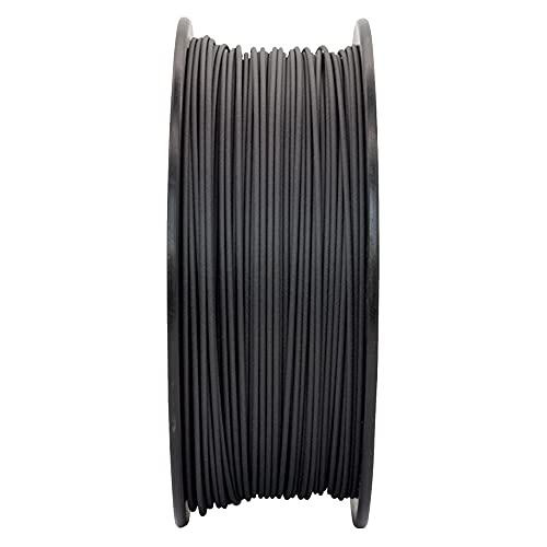 3D Printer Filament PA6-CF Carbon Fiber Reinforced Nylon Material 20% Chopped Carbon Fibers + 80% PA6 Nylon, 2kg Spool-1.75mm