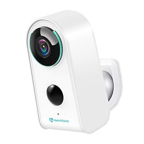 1080P Telecamera Esterna WiFi Senza Fili, Telecamera Batteria Impermeabile con PIR Rilevamento del Movimento Visione Notturna, IP65 Cam con Audio Bidirezionale(Arcata)